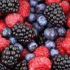 group of blackberries, raspberries, blueberries