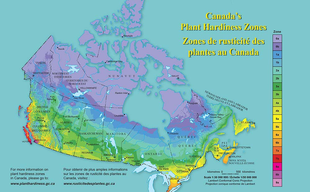 Canadian Plant Hardiness Map