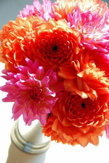 Dahlias Rainbow Vase