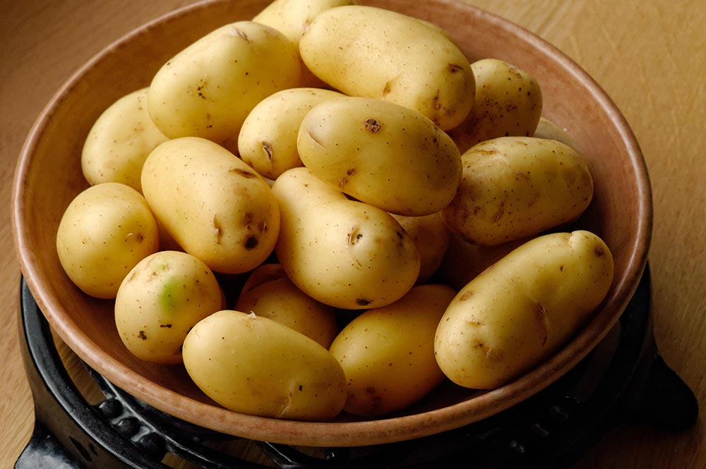 Fresh Clean Potatoes in a Bowl